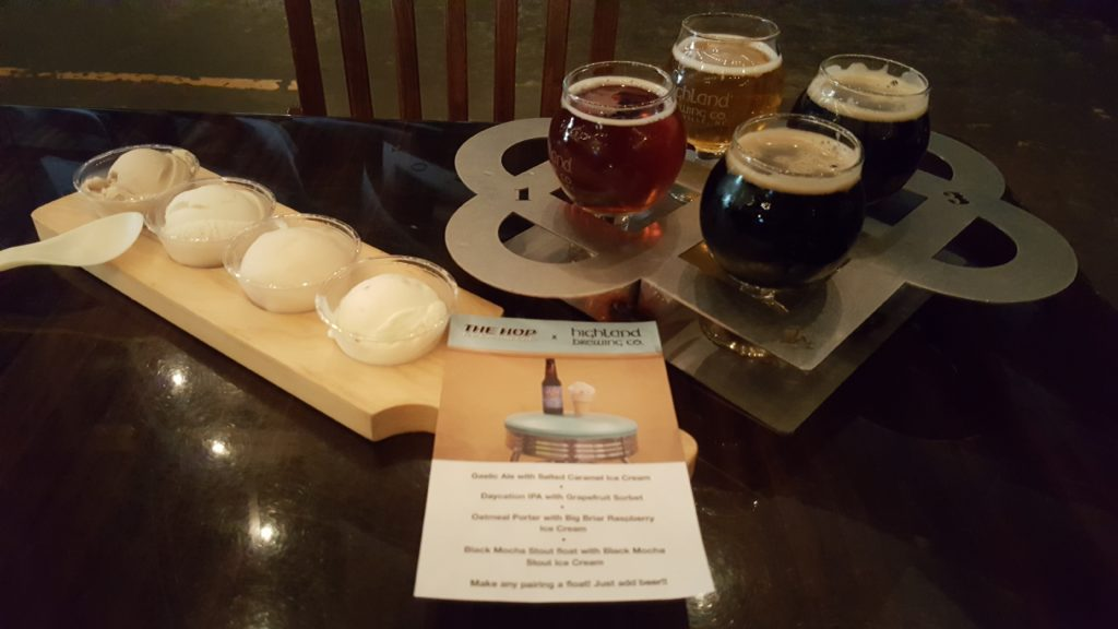 Beer & Ice Cream Pairing At Highland Brewery In Asheville