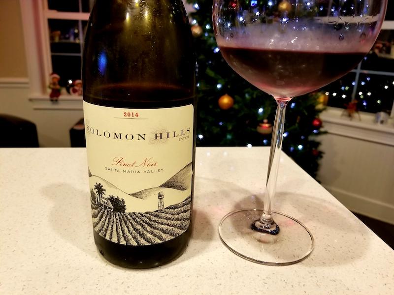 The 12 Wines Of Christmas … Solomon Hills Pinot Noir